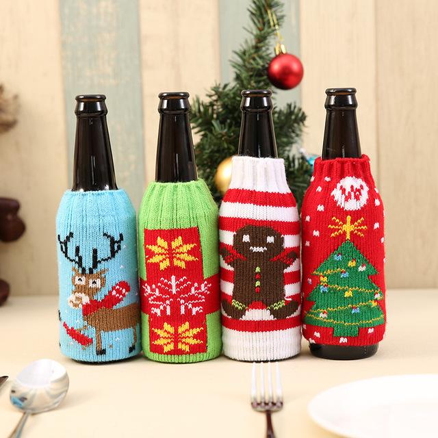 Christmas Koozies.Christmas Beer Bottle Cooler