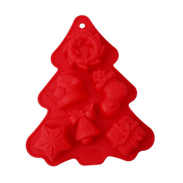 Kerstboom Vorm Met Figuurtjes Voor Chocolade Cake En Of Zeepjes