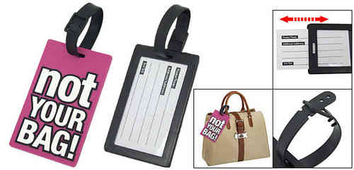 Luggage tag NOT YOUR BAG