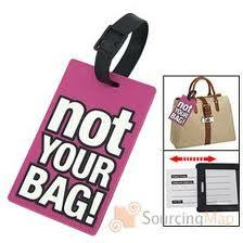 106797087869 Luggage tag NOT YOUR BAG! Purple.