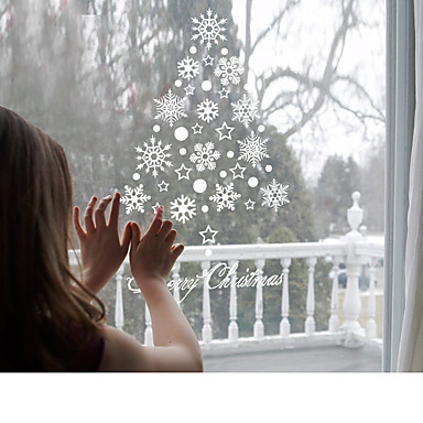 Wonderlijk Raam decoratie sticker Kerstmis sneeuwvlokken. HQ-38