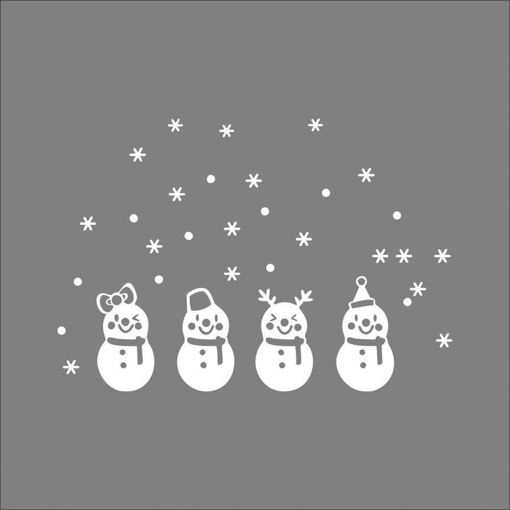 Foto Sticker Muur.Sneeuwpoppen Raam Deur Muur Sticker Kerst Idee