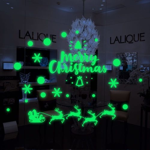 Glow in the Dark Christmas sticker for window and doors