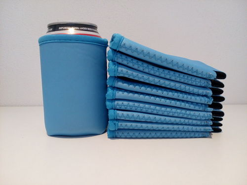 Deluxe light blue soda beer can holders