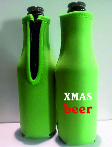2 x Beer Bottle Cooler Holder | Christmas Theme