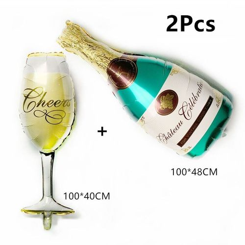 Party Balloon set Champagne bottle + Glass