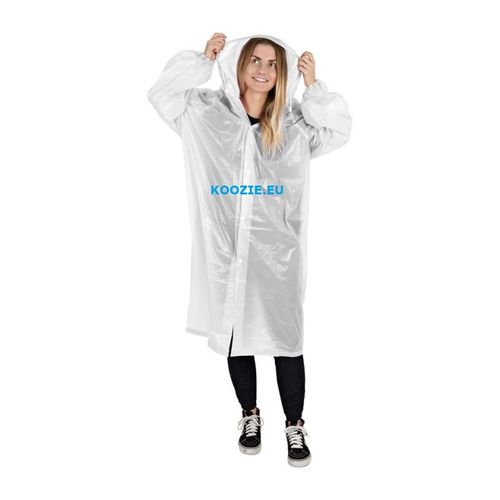 10 pcs. Raincoat with sleeve - transparent