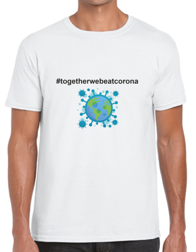 T-Shirt #TOGETHERWEBEATCORONA