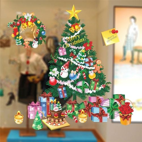 Window & Glass Sticker Christmas Christmas Tree Colorful