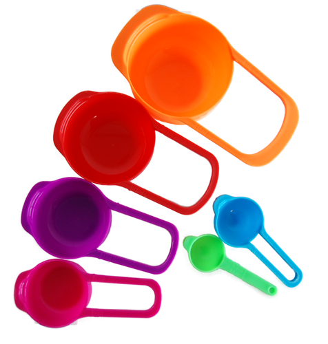 6-piece measuring spoon set